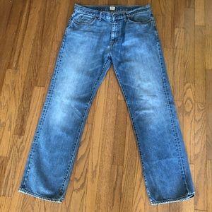 J. Crew Straight Leg Blue Jeans Men's Sz 35x32